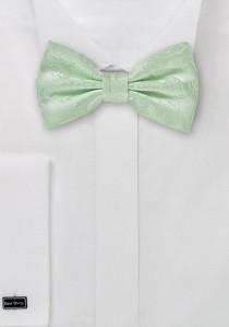 Herrenfliege Ranken-Pattern hellgrün