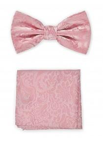 Herren-Schleife und Kavaliertuch in rosa