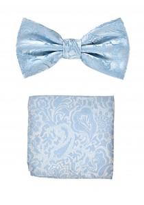Herrenschleife und Kavaliertuch in hellblau
