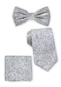 Herrenfliege, Krawatte und Kavaliertuch im Set