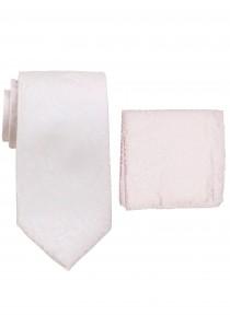 Zusammenstellung Krawatte und Einstecktuch