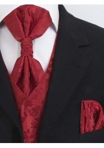 Hochzeitswesten Set florales Muster Rot Lorenzo Guerni Venedig