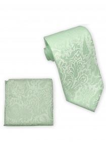 Zusammenstellung Krawatte und Kavaliertuch Paisley