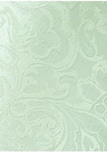 Kombination Businesskrawatte und Ziertuch Paisleymuster hellgrün