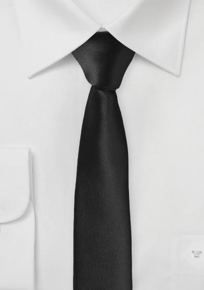 Extra schlanke Krawatte asphaltschwarz