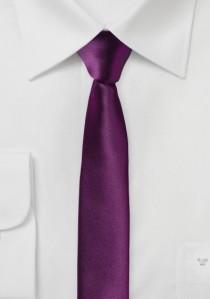 Extra schmale Krawatte violett
