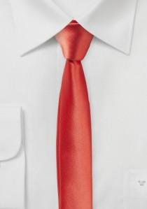 Extra schlanke Krawatte koralle