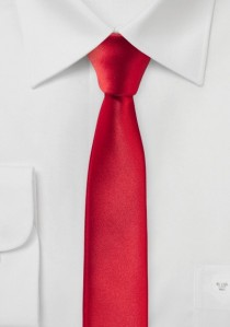 Extra schlanke Krawatte rot
