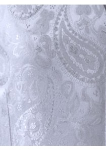 Hochzeitsweste mit großem Paisleymuster in silber