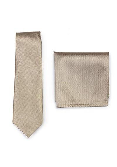Set Krawatte Ziertuch sand strukturiert