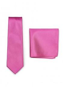 Set Herrenkrawatte Kavaliertuch pinkfarben