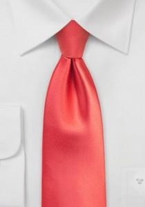 Hochwertige Krawatte schmal  in koralle