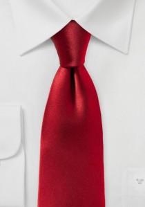 Stylische Businesskrawatte einfarbig rot