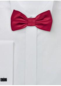 Herrenschleife einfarbig Poly-Faser rot