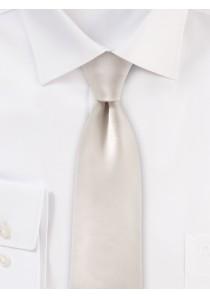 Seiden-Krawatte edler Satinglanz weiß