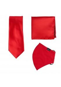 Set: Gesichtsmaske, Krawatte und Kavaliertuch in