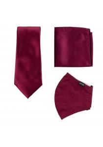 Set: Gesichtsmaske, Krawatte und Einstecktuch in