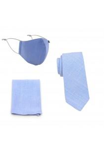 Masken-Set Baumwolle taubenblau