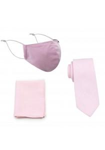 Masken-Set Baumwolle rosé