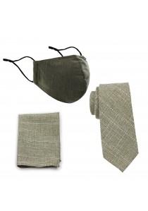 Masken-Set Baumwolle oliv