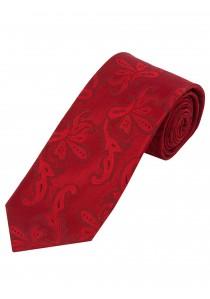 Markante Krawatte Paisleymotiv rot