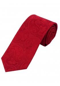 Stylische Krawatte Paisleymuster rot