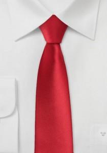 Schmale Mikrofaser Krawatte helles rot