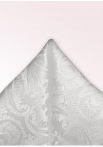 Ziertuch Paisleymotiv perlweiß