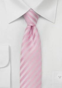 Granada  schmale Mikrofaser Krawatte blush