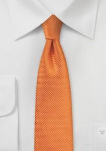 Schmale Krawatte strukturiert orange