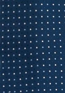 Nachtblaue Krawatte mit Tupfenmuster