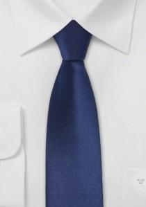 Dunkelblaue Krawatte schmal Mikrofaser