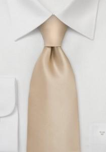 Moulins Krawatte champagnerfarben unifarben