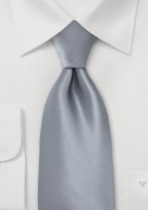 Moulins Krawatte silber unifarben