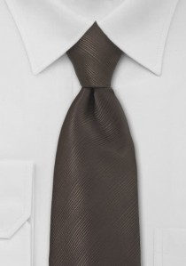 Krawatte mocca unifarben Streifen