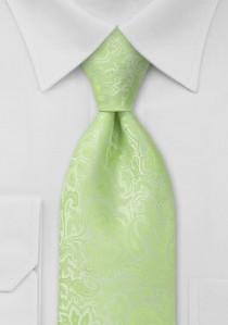 Businesskrawatte Rankenmuster blassgrün