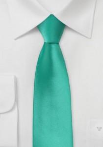 Moulins Krawatte schmal unifarben türkisgrün