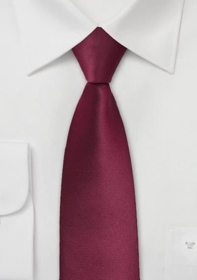 Krawatte schmal bordeaux