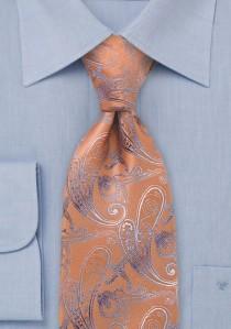Krawatte Rankenmuster orange
