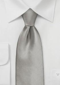 Mikrofaser-Krawatte unifarben altsilber