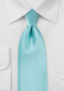 Mikrofaser-Krawatte unifarben mint