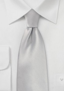 Mikrofaser-Krawatte einfarbig silber