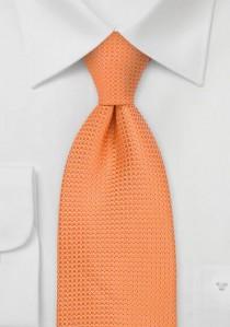 Herrenkrawatte kupfer-orange Gittermuster