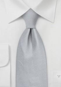 Krawatte Silbergrau Gitteroberflächen