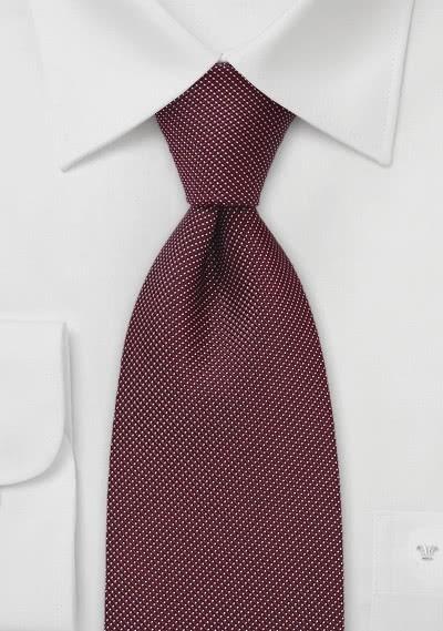 Krawatte weinrot Punkte
