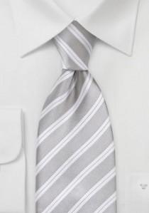 Herrenkrawatte grau italienisches Streifen-Muster
