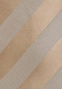 Herrenkrawatte Streifendesign beige ecru
