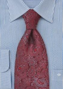 Krawatte Paisley kirschrot