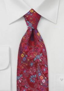 Krawatte Blumen-Muster rot