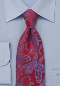 Krawatte Paisleys rot